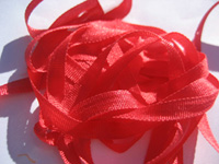 YLI Silk Ribbon, 7mm — 002 (red) THUMBNAIL