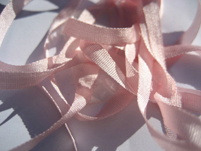 YLI Silk Ribbon, 4mm — 007 (baby pink) MAIN