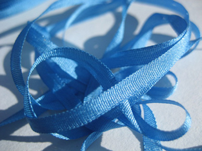 YLI Silk Ribbon, 4mm — 011 (peacock blue) MAIN