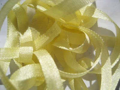 YLI Silk Ribbon, 7mm — 013 (maize) MAIN