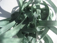 YLI Silk Ribbon, 4mm — 033 (dark sage) THUMBNAIL