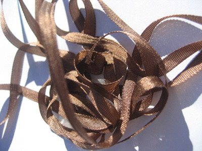 YLI Silk Ribbon, 7mm — 037 (brown) MAIN