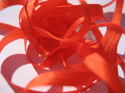 YLI Silk Ribbon, 4mm — 041 (orange) MAIN