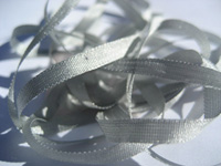 YLI Silk Ribbon, 7mm — 073 (light gray green) THUMBNAIL