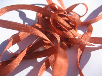 YLI Silk Ribbon, 4mm — 077 (terra cotta) MAIN