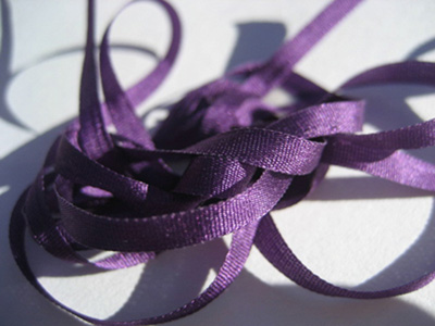 YLI Silk Ribbon, 7mm — 085 (purple) MAIN