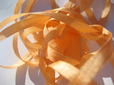 YLI Silk Ribbon, 4mm — 106 (orange sherbet) MAIN