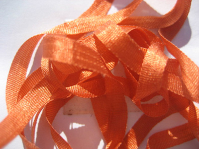 YLI Silk Ribbon, 4mm — 108 (rusty orange) MAIN