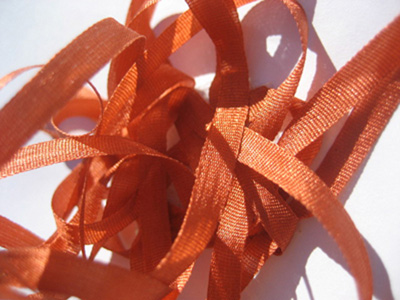 YLI Silk Ribbon, 4mm — 109 (dark pumpkin) MAIN