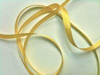 YLI Silk Ribbon, 4mm — 121 (corn yellow) MAIN