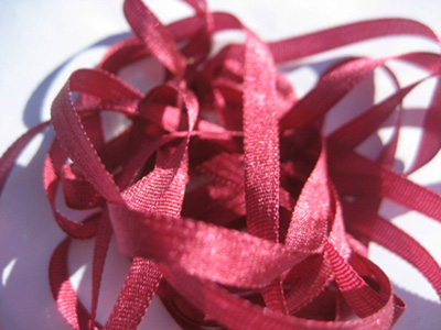 YLI Silk Ribbon, 4mm — 129 (oxblood) MAIN