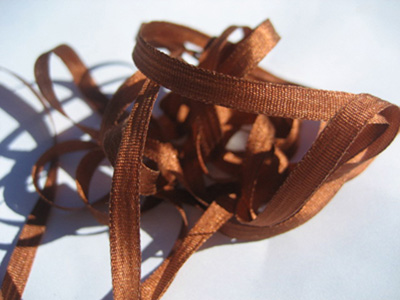YLI Silk Ribbon, 4mm — 150 (brown rust) MAIN