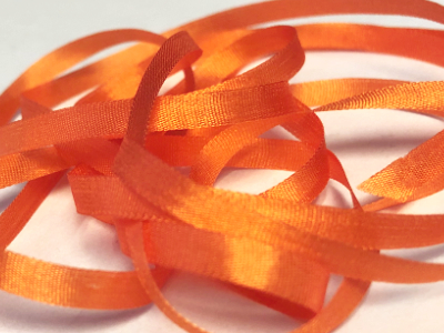 YLI Silk Ribbon, 4mm — 174 (carrot) MAIN