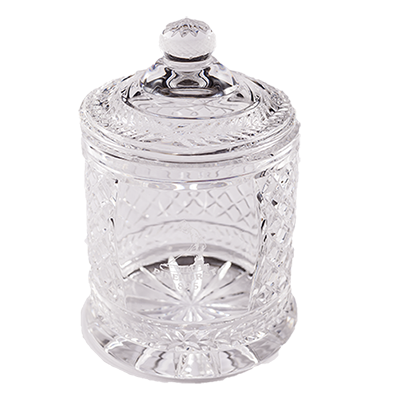 "6"" Hampton Crystal Biscuit Barrel"