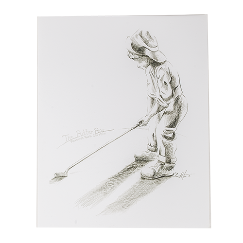 The Putter Boy 8 x 10 Drawing THUMBNAIL