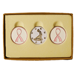 Putter Boy Breast Cancer Ballmarker Set