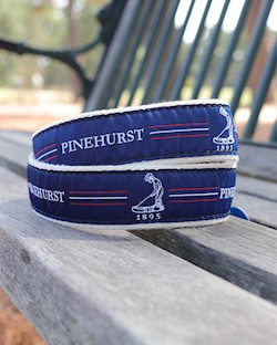 Putter Boy Center Stripe Belt- Navy/Red LARGE