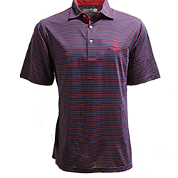 Men's Donald Ross Tartan Collection- Pencil Stripe Polo MAIN