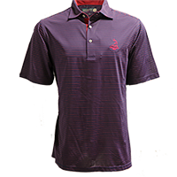 Men's Donald Ross Tartan Collection- Pencil Stripe Polo THUMBNAIL