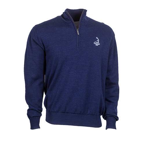 Men's FJ Merino Lined Sweater-Navy