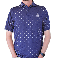 Fairway and Greene- Tides Print Polo THUMBNAIL