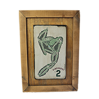 No. 2 Framed Course Map SWATCH