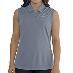 Ladies' Pinehurst Private Label Solid Sleeveless Polo MAIN