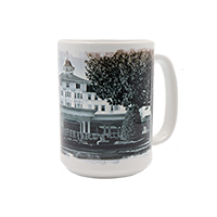 Carolina Hotel Black and White 15 oz. Mug Box SWATCH