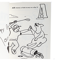 Marvin's ABC's of Golf Coloring Book SWATCH