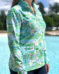 Ladies' Charlie 1/2 Green Pullover by Kaeli Smith THUMBNAIL
