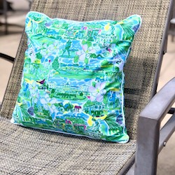 Custom Indoor/Outdoor Green Pillow by Kaeli Smith LARGE