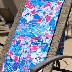 Custom Pink Beach Towel by Kaeli Smith LARGE
