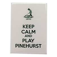 Keep Calm Play Pinehurst Magnet Mini-Thumbnail