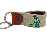 Smathers and Branson - Pinehurst Needlepoint Key Fob SWATCH