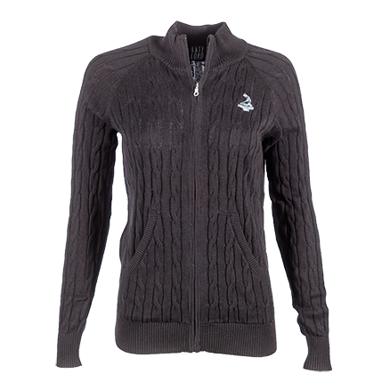 Ladies' Full Zip Northridge Sweater - Black