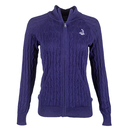 Ladies' Full Zip Northridge Sweater - Boysenberry