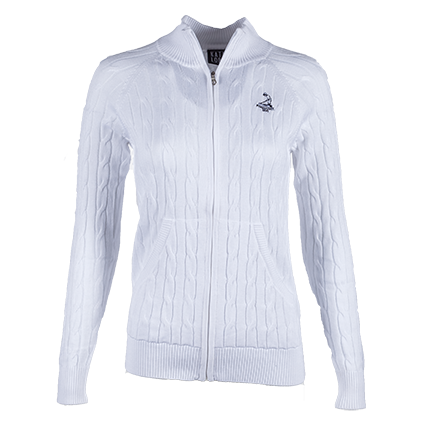 Ladies' Full Zip Northridge Sweater - White