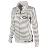 Ladies' Resort Full Zip - Oxford Stripe