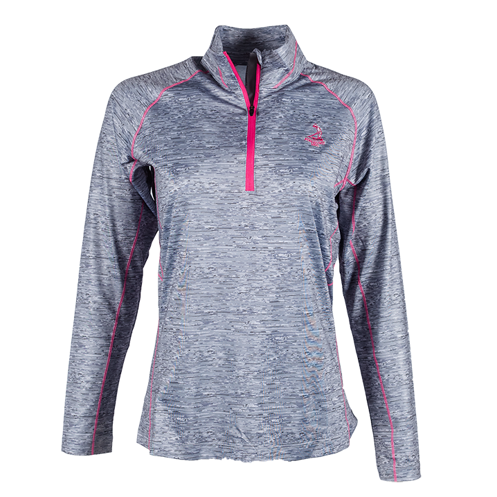 Ladies' Space Dye Half Zip Pullover - Carbon