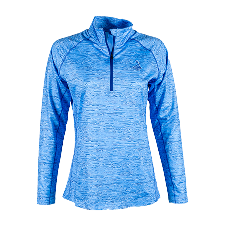 Ladies' Space Dye Half Zip Pullover - Ladybell