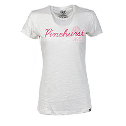 Ladies' Pinehurst Resort Scrum Tee (White)