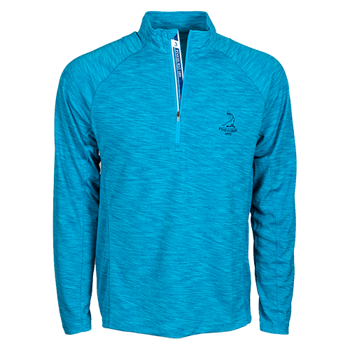 Men's Center Text Mobility Pullover - Caribbean