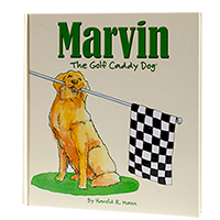 Marvin The Golf Caddy Dog