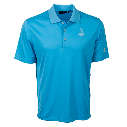 Pinehurst Private Label Solid Polo - Bright Cyan
