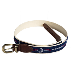Putter Boy Center Stripe Belt- Navy/Red MAIN