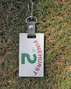 Pinehurst No. 2 Wooden Bag Tag LARGE