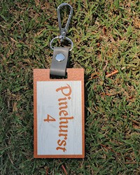 Pinehurst No. 4 Wooden Bag Tag THUMBNAIL