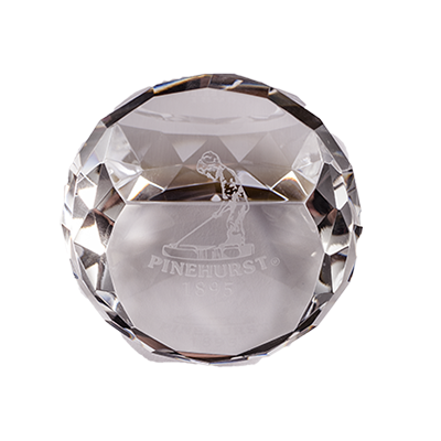 Standing Crystal Paperweight