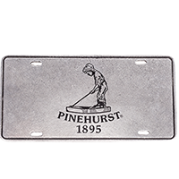 Pinehurst Pewter License Plate