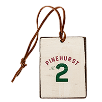 Pinehurst No. 2 Logo Wooden Bag Tag Mini-Thumbnail